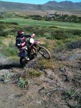 Ryan Divel riding dirt bike